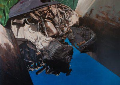 56 Xatarra (motor) 80F (146x114 cm) Acrilic sobre tela