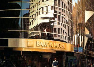quadre: Banca Mora  - tècnica: Mixta sobre tela