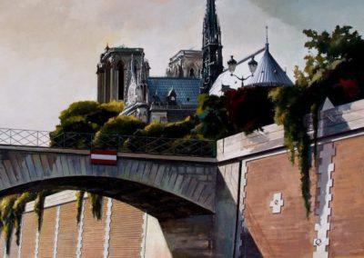 quadre: Notre Dame - tècnica: mixta sobre tela - 30 F - 92 x 73 cm